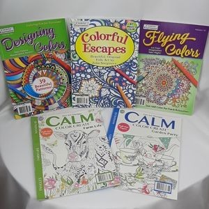 NEW!! Set of 5 coloring books